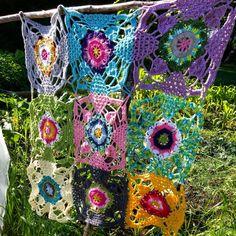 Rustic lace squares