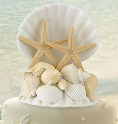 Seashell Cake Topper I would change some things but love the general idea