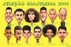 Caricaturas da Seleção Brasileira – Pôster em A Gazeta de hoje