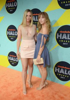 Alisha Marie and Ashley Nichole attend the 2017 Nickelodeon HALO Awards at Pier 36 on November 4, 2017 in New York City.