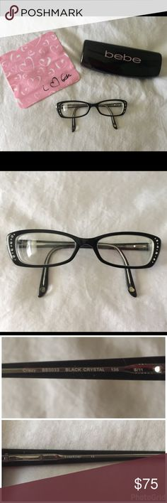 Bebe Crazy BB5033 Eyeglass Frames 51/61~135 Bebe Crazy BB5033 Eyeglass Frames 51/61~135, Diamond Accents Around Frames, They Do Come With Prescription Lenses Which Can Be Replaced At Your Eye Doctor, Also Comes With Case & Cleaning Cloth, Worn Maybe A Month, An Hour Or Two Each Day, Smoke & Pet Free Home bebe Accessories Glasses