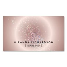 Business Card Template for Makeup Artists - An other-wordly design captures the essence of color and makeup in a unique graphic. A chic and stunning design for your makeup artistry or beauty brand.