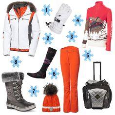 Holiday Gift Guide, The Snow Bunny: 1. Toni Sailer Helena Jacket 2. Swany X-Therm Ski Glove 3. Toni Sailer Stretch Pant 4. Neve Designs Switzerland Zip Neck 5. Hot Gear Trolley- Heated Boot Bag 6. Smartwool PhD Ski Light Ski Sock 7. Toni Sailer Melisande Fur Beanie 8. UGG Brynn Boot