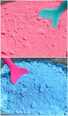 "Make homemade powdered paint with chalk, a ziplock bag & a hammer - from Growing a Jeweled Rose ("",)"