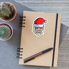 The perfect sticker for Christmas 2020 · Santa Claus with face mask