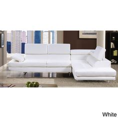 Furniture of America Contemporary 2-piece Sectional with Adjustable Headrest | Overstock.com Shopping - Big Discounts on Furniture of America Sectional Sofas