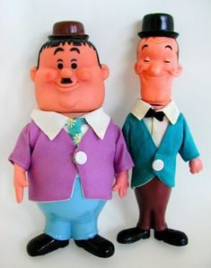 Laurel and Hardy figures by Dakin