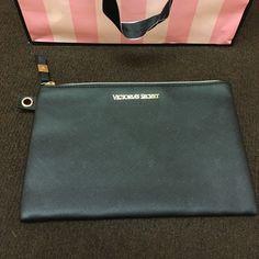 Victorias secret make up bag/wristlet NWOT all black with gold zipper and victorias secret logo, open to reasonable offers, no trades Victoria's Secret Bags
