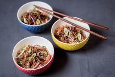 Honey-Soy Braised Beef with Cauliflower Fried Rice - Make delicious beef recipes easy, for any occasion Cauliflower Fried Rice, Ginger And Honey, Braised Beef, Japchae, Food Styling, Beef Recipes, Easy Meals, Ethnic Recipes, Meat Recipes