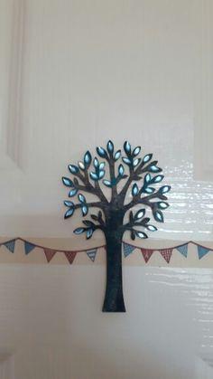 Decorated plywood tree
