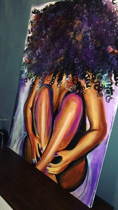 Handmade Oil Painting On Canvas Abstract Painting Sunrise Painting Jes – artichokeral Black Art Painting, Black Artwork, Oil Painting On Canvas, Painting Of Girl, Black Love Art, Black Girl Art, Art Girl, Sunrise Painting, Black Art Pictures
