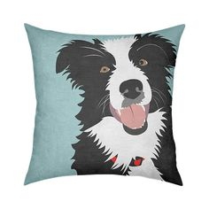 This is one happy Border Collie, just look at that sweet face.  A fun throw pillow for the Border Collie lover.