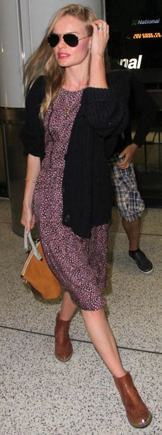 Kate Bosworth was comfortable, but ladylike, at the airport