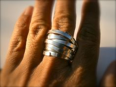 Gewickelter Ring, silber // silver wrapped ring by mein-traumring via dawanda.com