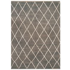 Handmade Herat Oriental Indo Hand-knotted Moroccan Wool Area Rug (7'6 x 10) (Handmade Moroccan Area Rug), Grey, Size 7'7 x 10'
