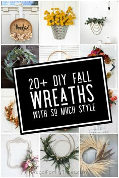 Here are so many unique DIY fall wreath ideas with style! Making fall wreath crafts is a creative and affordable way to celebrate autumn. Included are embroidery hoop wreaths, burlap wreaths, basket wreaths, a paper fern wreath and other simple and modern fall wreath crafts. Diy Fall Wreath, Wreath Crafts, Fall Diy, Fall Wreaths, Wreath Ideas, Decor Crafts, Diy Crafts, Geek Crafts, Autumn Fall