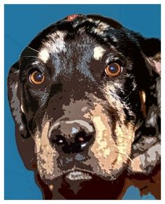 Catahoula Leopard Dog 8x10 Pop Art Print of by PawPrintsProject, $20.00