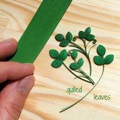 ArtLife: Green, quilled leaves method