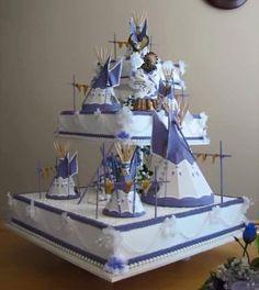 Native American Indian wedding cake                                                                                                                                                     More