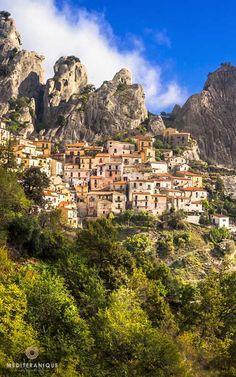 Castelmezzano, a village in the mountains, Basilicata, Italy