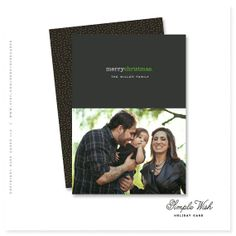 "personalized christmas card  - ""Simple Wish"""