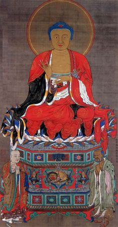 Jyakutyu Ito 釈迦三尊像 釈迦如来像 Shaka Sanzon-zo(Shaka Triad)  三幅のうち一幅 明和二年(1765)以前 京都・祖国寺