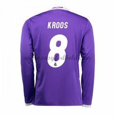 Fodboldtrøjer La Liga Real Madrid 2016-17 Kroos 8 Udebanetrøje Langærmede