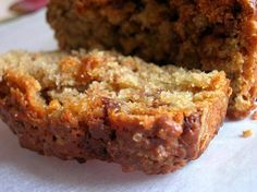 whole wheat peanut butter banana bread with chocolate chips