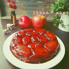 冷凍パイシートで♪ほろ苦大人のタルトタタン♪ by しゃなママ / りんごの美味しい季節にぴったりのケーキ♪カラメルがほんのり苦くて大人味(*´∀`)♪タルトタタンです♪♪♪名前も可愛くて大好きなお菓子(*´艸`)♪沢山りんごがある時にぜひ♪♪♪ / Nadia