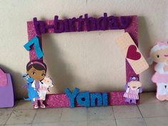 Birthday Favors, 4th Birthday Parties, Birthday Party Decorations, 3rd Birthday, Doctor Mcstuffins, Party Frame, Doc Mcstuffins Birthday Party, Second Birthday Ideas, Little Mermaid Parties