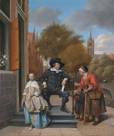 Double portrait of Adolf Croeser (1612-1668) and his daughter Catharina Croeser, Jan Steen, 1655