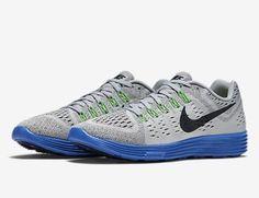 31f7e88022bb Nike Mens Lunartempo Breathable Mesh Gray Blue Running Sneaker SZ 11 705461  004