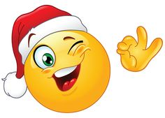 Winking Santa smiley