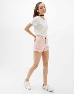 Mom Fit shorts - Shorts - Bershka Ukraine