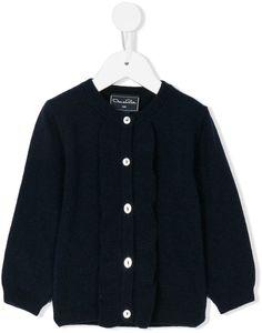 Oscar De La Renta Kids ruffle trim knitted cardigan