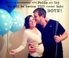 Twin baby boy gender announcement