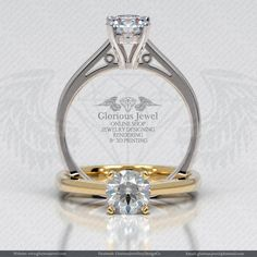 Glorious Engagement Ring with CZ stone / by GloriousJewelOnline