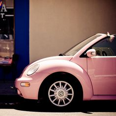 Pink Bug ☆ Girly Cars for Female Drivers! Love Pink Cars ♥ It's the dream car for every girl ALL THINGS PINK!