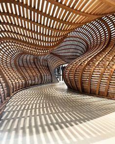 Architecture Paramétrique, Organic Architecture, Futuristic Architecture, Amazing Architecture, Contemporary Architecture, Installation Architecture, Light Installation, Portfolio Design, Portfolio Ideas