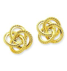 14k Yellow Gold Polished & Twisted Fancy Earring Jackets. Gold Wt- 2.55g. Jewelry Pot. $201.99. 100% Satisfaction Guarantee. Questions? Call 866-923-4446. Your item will be shipped the same or next weekday!. Fabulous Promotions and Discounts!. 30 Day Money Back Guarantee. All Genuine Diamonds, Gemstones, Materials, and Precious Metals. Save 62% Off!