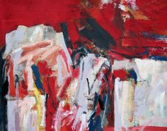 Buried in Red oil on hessian 100 x 125 cms South African Artists, Hessian, Paintings, Oil, Contemporary, Abstract, Canvas, Color, Abstract Pictures