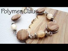 ▶ Faux wood effect polymer clay tutorial (english sub) - YouTube