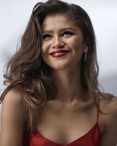 Zendaya for Lancome L'absolu rouge ruby cream lipstick 2019 #zendaya #lancome Celebrity List, Celebrity Pictures, Zendaya Maree Stoermer Coleman, Zendaya Style, Beautiful Female Celebrities, Instagram Models, Lancome, Celebs, Singer