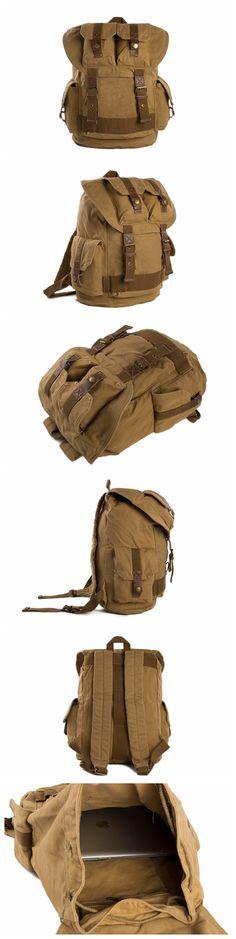 Large Volume Canvas Backpack, School Backpack, Track Backpack 1076