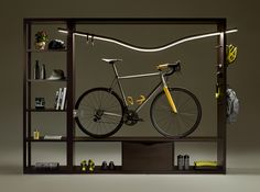 cycling enters the world of interior design to make people live their bike passion at home. dedicated to those who love to ride their bike, and think that love should also be smart, ride home provides them with surprisingly different solutions to shape their passion into unique pieces of furniture.