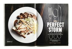 Perfect Storm Food Feature by Robin Finlay, via Behance