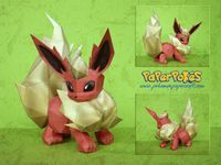 Paperpokés - Pokémon Papercrafts: FLAREON I had one of these in Pokemon Gold once :O Pokemon, Papercraft Flareon for kids, Papercraft Flareon, Papercraft, awesome, cute, cool, nintendo, Flareon