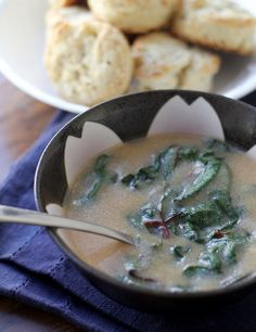 Rustic Cornmeal Swiss Chard Soup