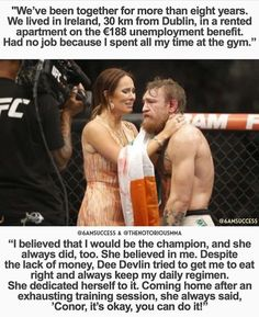 Connor McGregor and wife