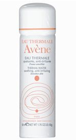 Avene Water Spray A soothing water spray for irritated skin. It's also good as a quick refresher on a hot day. I know lots of makeup artists who use it, as it helps set makeup.
